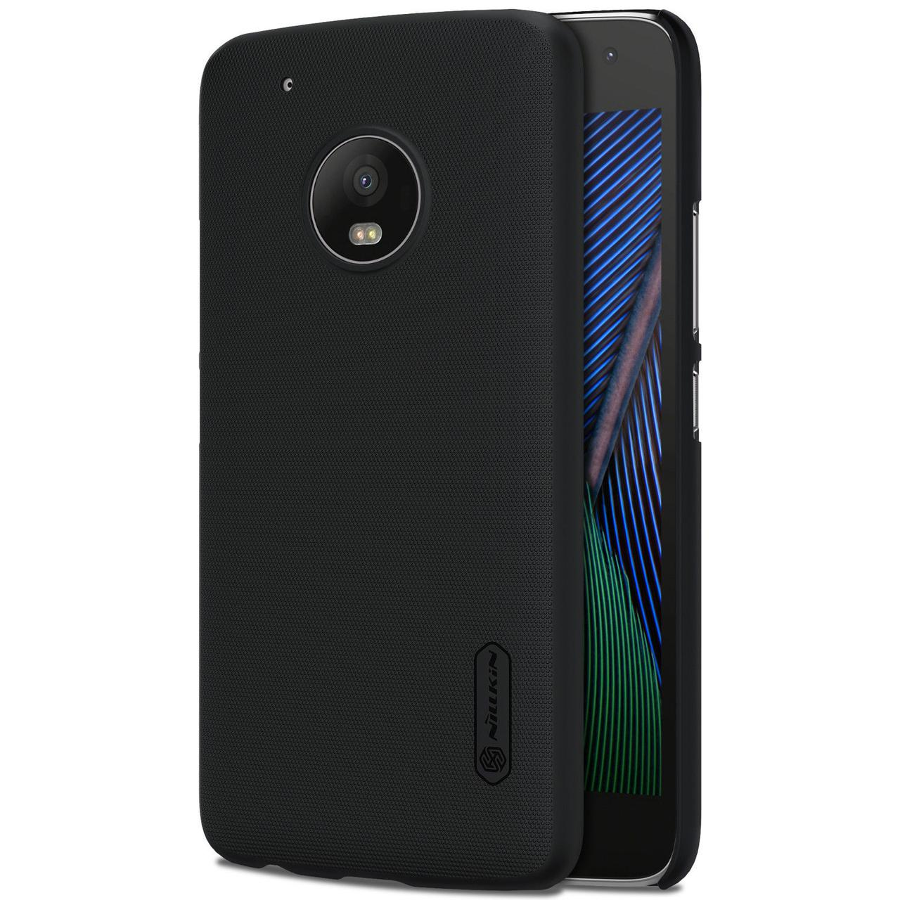 Nillkin Motorola MOTO G5 Plus Super Frosted Shield Black Чехол Накладка Бампер