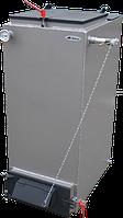 """Шахтный твердотопливный котел -12 кВт """"Холмова"""" Bizon FS cтандарт с увеличенным бункером."""