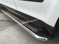 Пороги алюминиевые Erkul Maydos V2 для Nissan Juke 2010+
