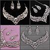 Колье и серьги набор бижутерия ожерелье свадебное и серьги свадебные аксессуары, фото 7