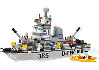 Конструктор SLUBAN M38-B0125 армія, корабель, фігурки, 461дет., кор., 57-37,5-9 см, фото 1
