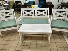 """Комплект дерев""""яних садових меблів  ПРОВАНС софа+2 крісла+столик"""