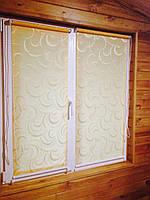 Рулонные шторы Фестиваль 702 бледно желтый цвет