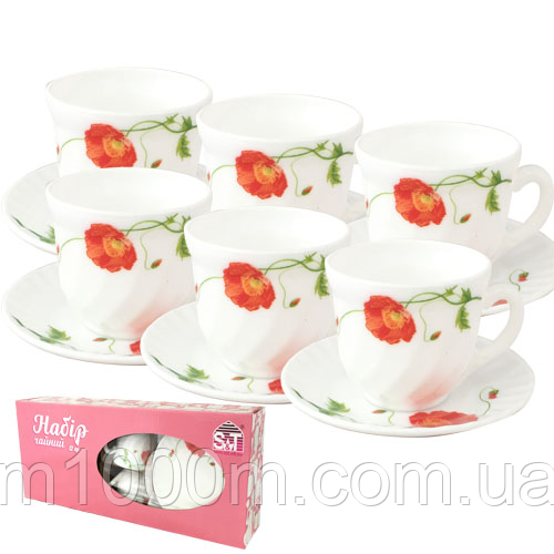 Набор чайный стеклокерамика 12 предметов 30055-1067