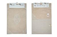 Набор ковриков для ванной 60х100, 60х50 хлопок Arya Marlow пудра