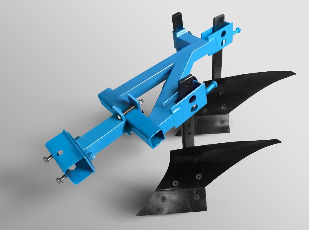 Плуг 2-х корпусный с опорным колесом ТМ Ара для тяжелых мотоблоков, фото 1