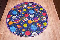 """Плеймат синий  """"Космос"""" 140 см  (коврик-трансформер для игр, мешок для игрушек)"""