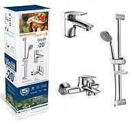Набор смесителей для ванны IMPRESE PRAHA new (05030 new + 10030 new + штанга R670SD)