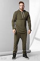 Модный мужской спортивный костюм хаки
