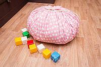 """Плеймат розовый  """"Единороги"""" 140 см  (коврик-трансформер для игр, мешок для игрушек)"""