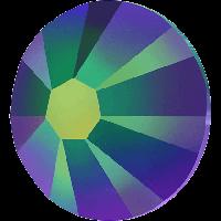 Стразы Сваровски клеевые холодной фиксации 2058 Crystal Scarabaeus Green ss7