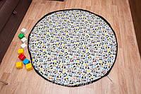 """Плеймат  """"Панды"""" 140 см  (коврик-трансформер для игр, мешок для игрушек)"""
