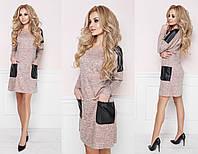 Платье норма  Мод 290 ангора софт+кожа   (AMBR)