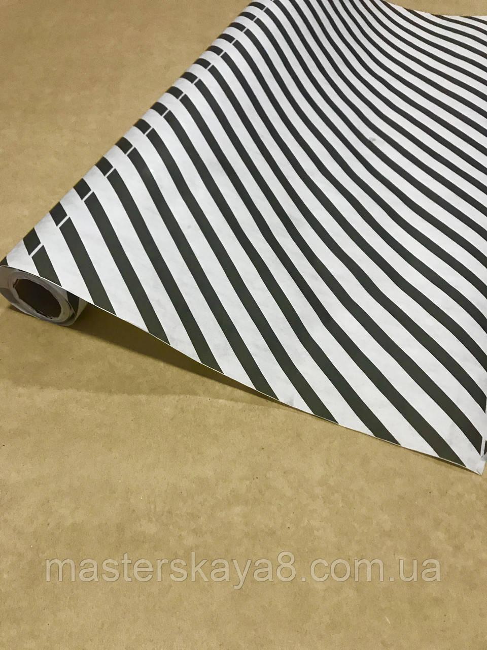 """Декоративная бумага для упаковки подарков и декора """"зебра-белая"""", 70см /намотка 8м"""