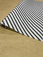 """Декоративная бумага для упаковки подарков и декора """"зебра-белая"""", 70см /намотка 8м, фото 1"""