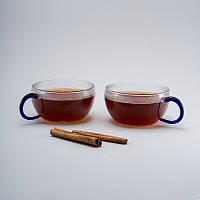 Комплект чайных цветных чашек 200 мл 2ед.