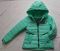 Демисезонная подростковая курткас 10 до 14лет для девочки,бирюзового цвета