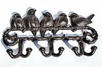 Ключница,крючки! Вешалка! Птицы,птички! Чугун! Germany!