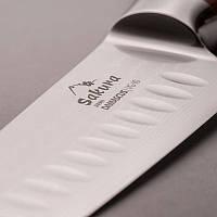 """Нож из дамасской стали 7"""" футляр в подарок!"""