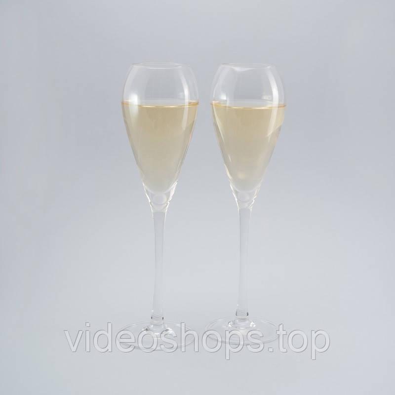 Комплект бокалов для шампанского 2ед.