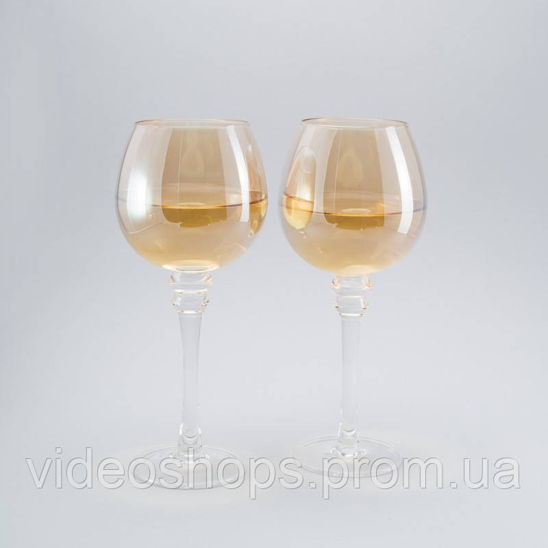 Комплект бокалов для вина с блеском 2 ед.
