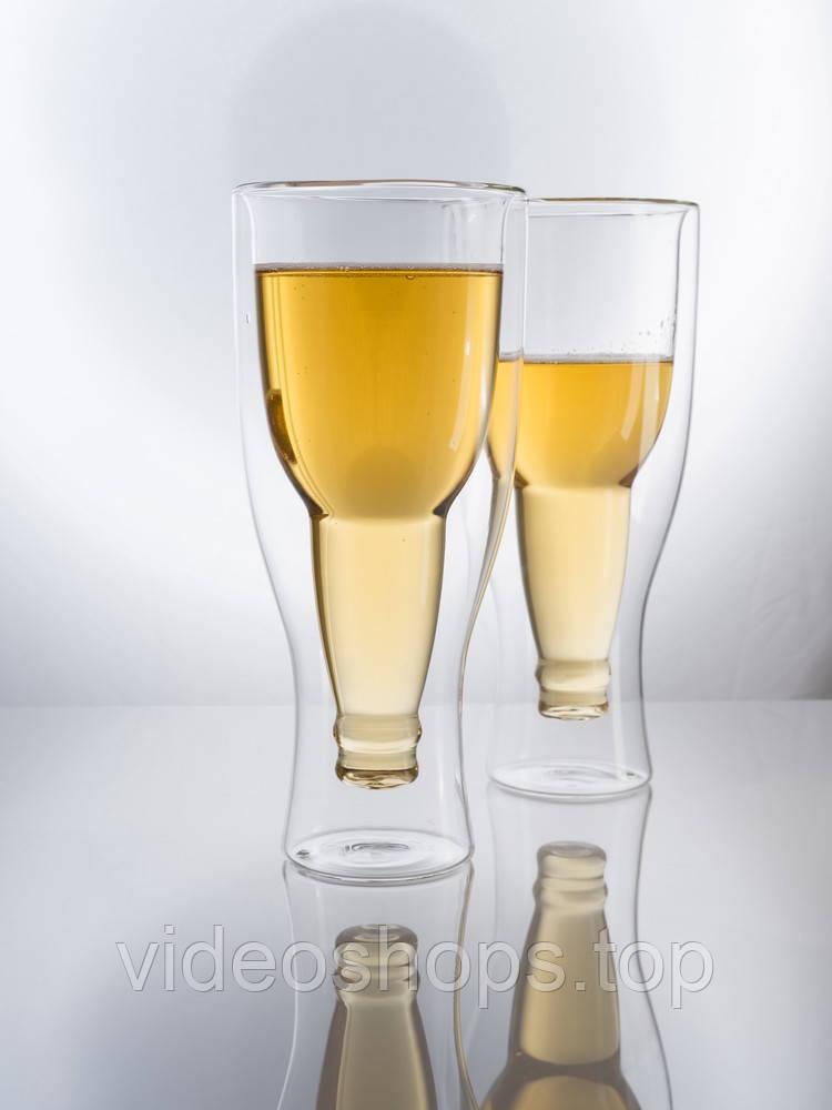 Комплект пивных бокалов с двойным дном 400 мл  2ед.