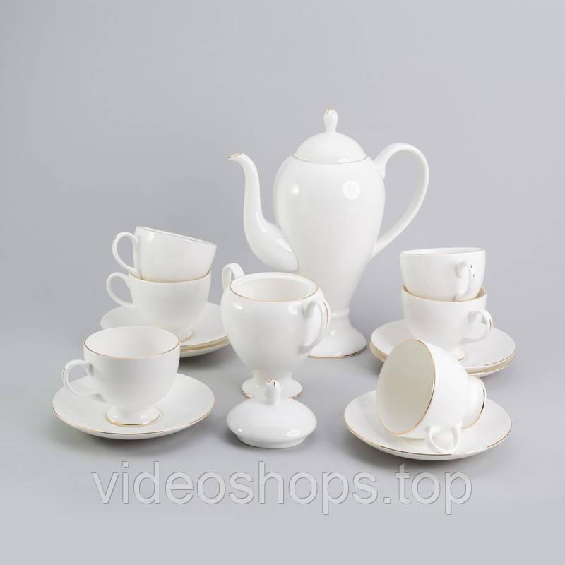"Чайный сервиез  ""Ландыш""  на 6 персон 14 ед."