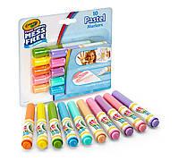 Фломастеры Color Wonder, 10 пастельных цветов, Crayola (Крайола)