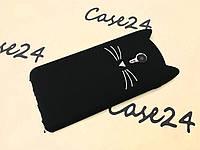 Резиновый 3D чехол для Meizu M3 Note Усики Сова черный
