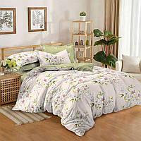Двуспальный комплект постельного белья евро 200*220 сатин (9024) TM KRISPOL Украина