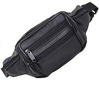 Кожаная сумка на пояс барсетка поясная мужская через плечо унисекс кожа