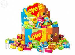 Жевательная резинка Love is 5 вкусов микс/жевательные конфеты лове ис