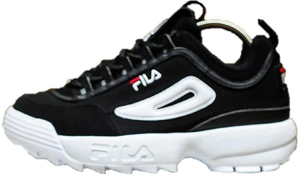 fe4056212f8e Женские кроссовки Fila Disruptor II Black White (Фила Дисраптор 2, черные) -