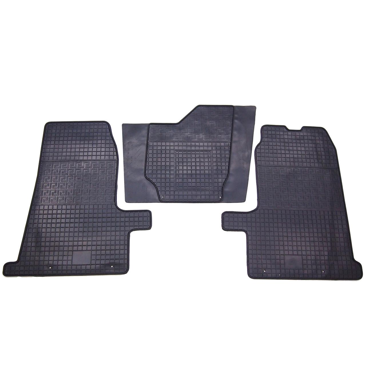 Коврики резиновые в салон для Ford Transit 2000- (PolyteP_Clasic)
