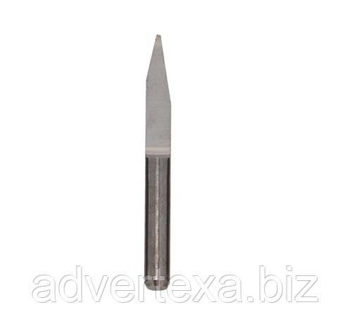 Фреза 0.8мм 3.175мм из вольфрамовой стали с общей длиной 30мм 20 градусов