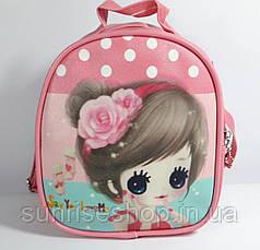 """Детский рюкзак- сумка """"Стильные девчонки"""" цвет розовый"""