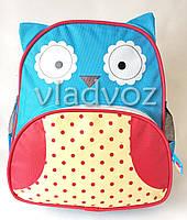 Детский рюкзак для дошкольника сова синий