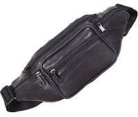 Кожаная сумка на пояс Барсетка поясная