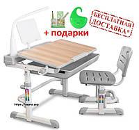 Детский стол и стул Evo-kids Evo-04 XL  (увеличенный), клен (с лампой и подставкой), 4 цвета
