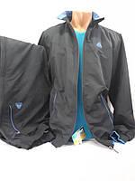 Утепленный спортивный костюм из мягкой плащевой ткани SOCCER, Турция, темно-синий.
