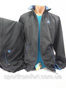 Утепленный спортивный костюм из мягкой плащевой ткани SOCCER, Турция, темно-синий, размеры 50, 52, 54.