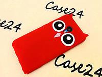 Резиновый 3D чехол для Meizu M3 (M3 Mini) / M3s Сова Усики красный