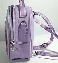 """Детский рюкзак- сумка """"Стильные девчонки """" цвет сирень, фото 2"""