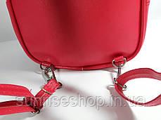 """Дитячий рюкзак - сумка """"Стильні дівчиська"""" колір малиновий, фото 3"""