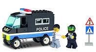 """Конструктор BRICK (LEGO) """"Полицейский грузовик"""" 87 деталей, 126"""