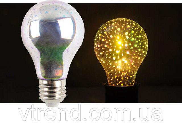 Лампочка с фейерверком внутри! Светодиодная лампочка Эдисона!