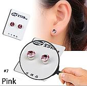 Серьги-клипсы на магнитах розовые