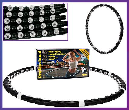 Обруч с магнитами для похудения халахуп Massaging Hoop Exerciser Professional Bradex, фото 2