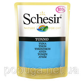 Schesir Tuna Консерви для кішок з тунцем і рисом, пауч 100 г