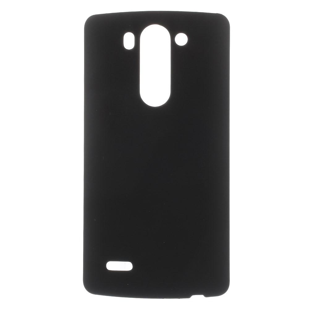 Чехол накладка пластик Rubberized для LG G3s Dual D724 черный